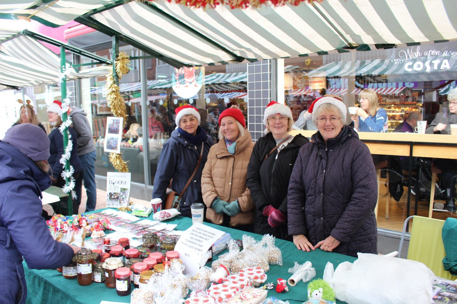 Markets over Christmas time in Loughborough