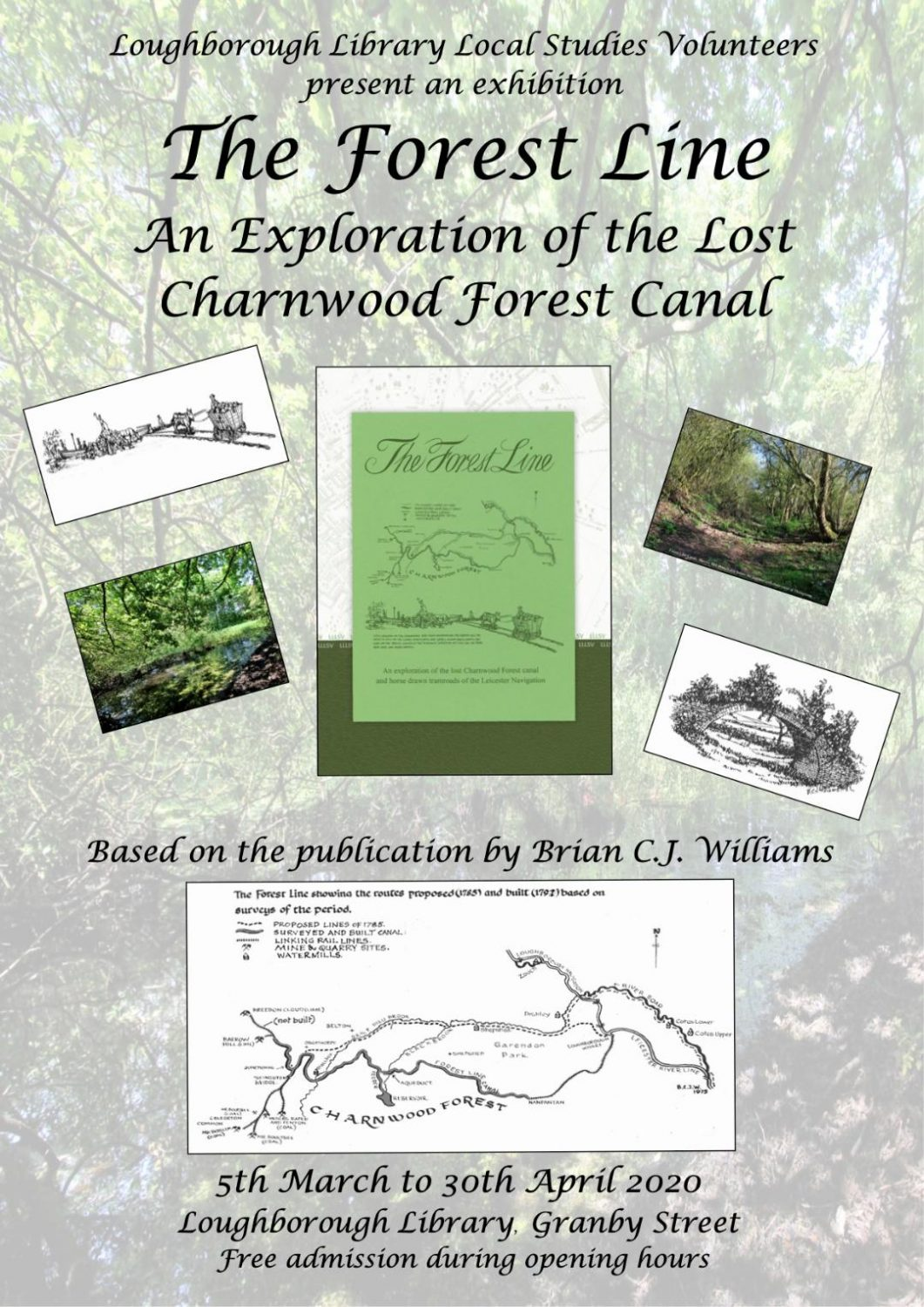 The Forest Line; A new exhibition at the Loughborough Library