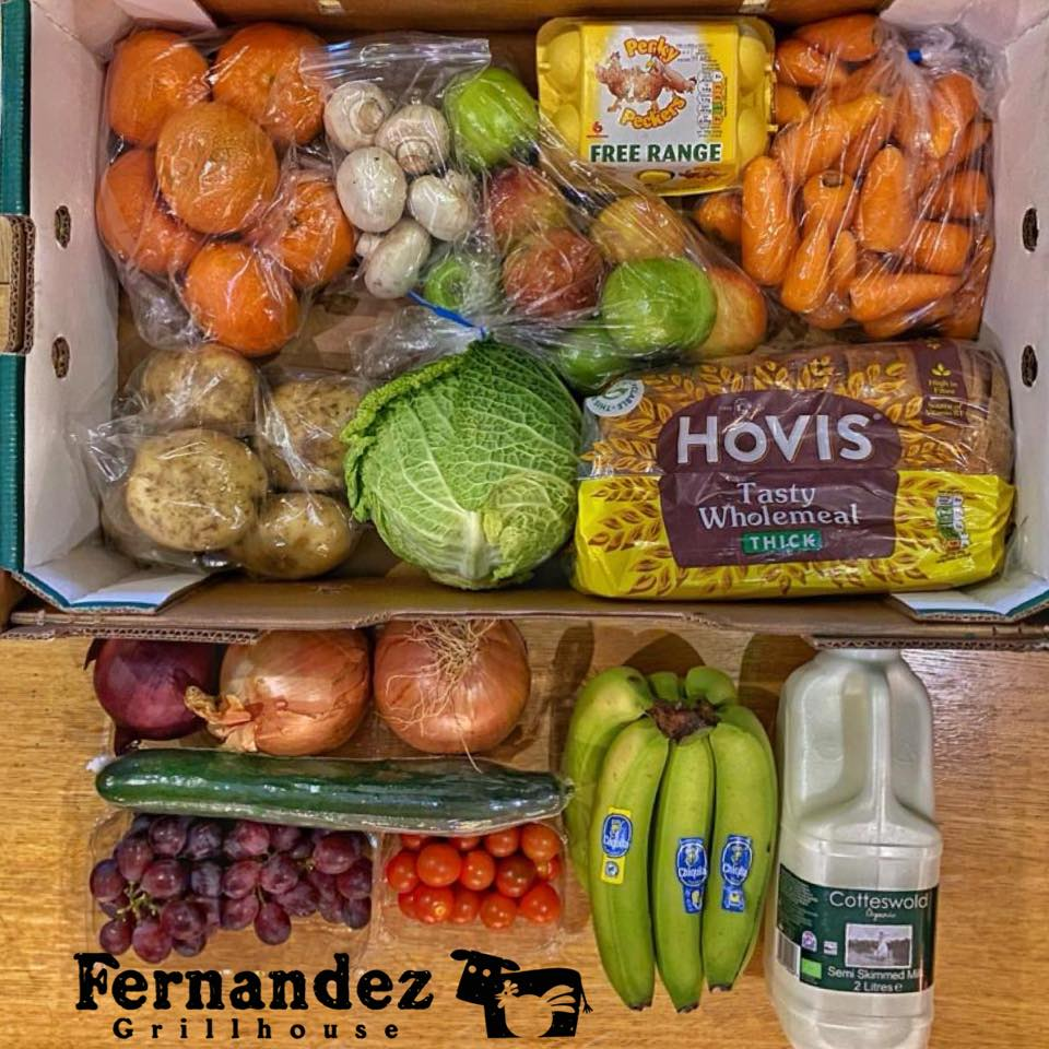 Fernandez Grillhouse are supplying care packages to those in need;