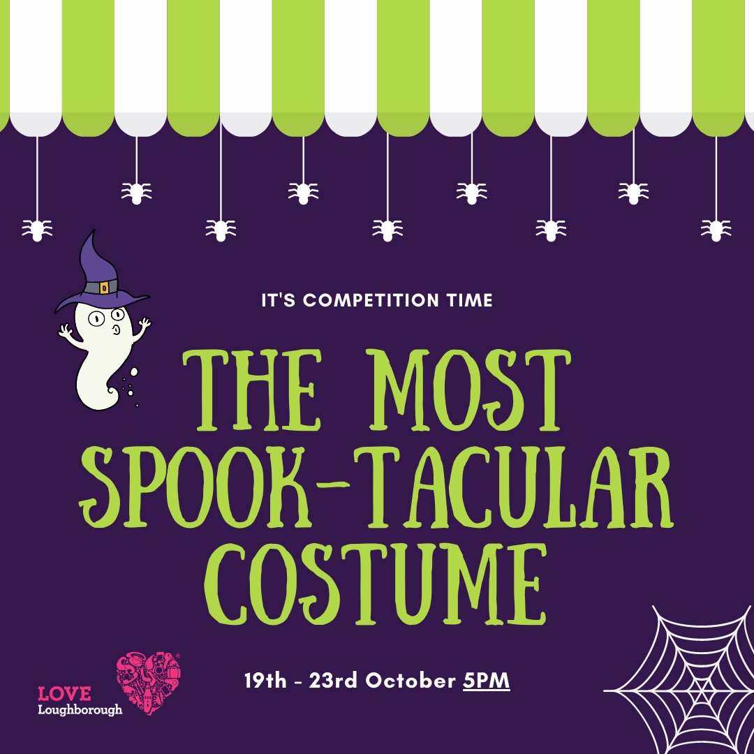Enter our Spook-tacular costume competition this Halloween for a chance to win £100 in local shopping vouchers!